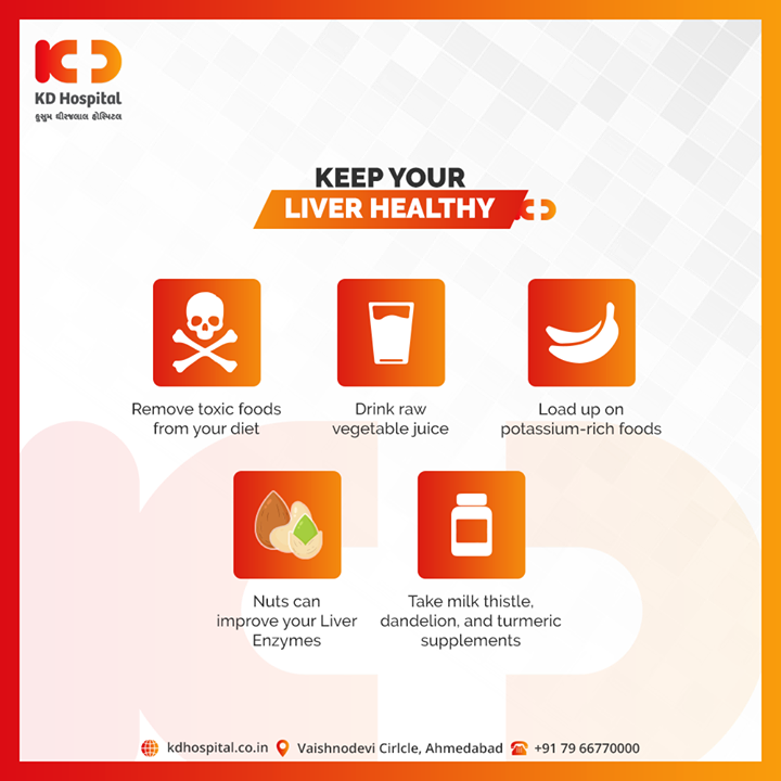 Here are 5 steps to Cleanse your Liver  #Liver #KDHospital #goodhealth #health #wellness #fitness #healthy #healthiswealth #wealth #healthyliving #joy #patientscare #Ahmedabad #Gujarat #India