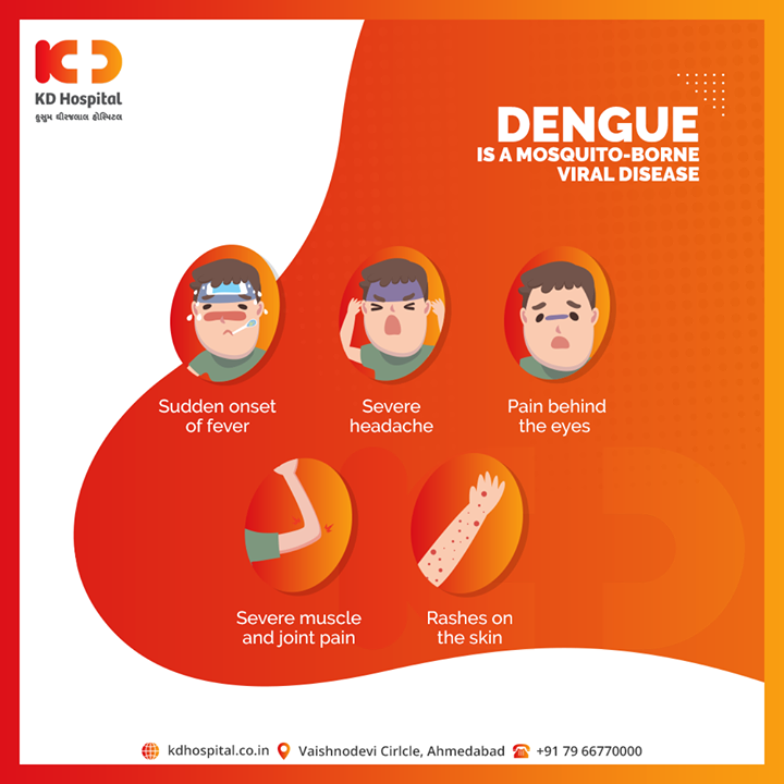 Anyone showing symptoms of dengue should consult a doctor immediately.  #KDHospital #goodhealth #health #wellness #fitness #healthiswealth #healthyliving #patientscare #Ahmedabad #Gujarat #India