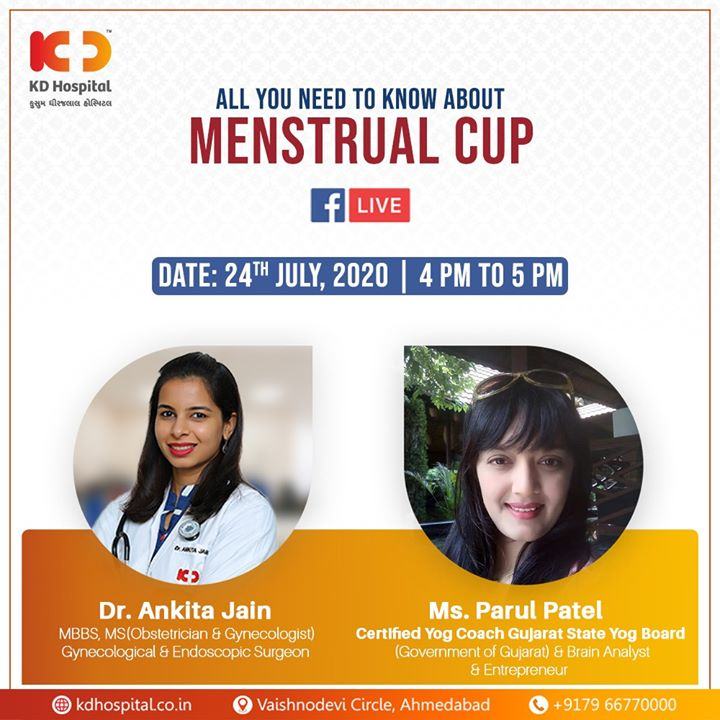 Dr. Ankita Jain, Gynecological & Endoscopic Surgeon at KD Hospital & Ms. Parul Patel, Certified Yog Coach Gujarat State Yog Board will be available for FB live and talk about