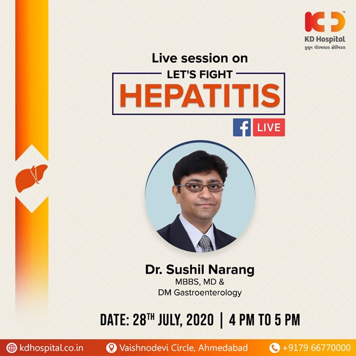 Hepatitis refers to an inflammatory condition of the liver and Dr. Sushil Narang, MBBS, MD & DM Gastroenterology is here to give insights and share his Wisdom on