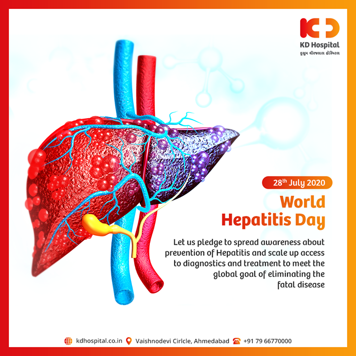 Let us pledge to spread awareness about the prevention of Hepatitis and scale up access to diagnostics and treatment to meet the global goal of eliminating the fatal disease.  #WorldHepatitisDay #HepatitisDay #HepatitisDay2020 #Hepatitis #LiverCare #ViralHepatitis #KDHospital #goodhealth #health #wellness #fitness #healthiswealth #healthyliving #patientscare #Ahmedabad #Gujarat #india