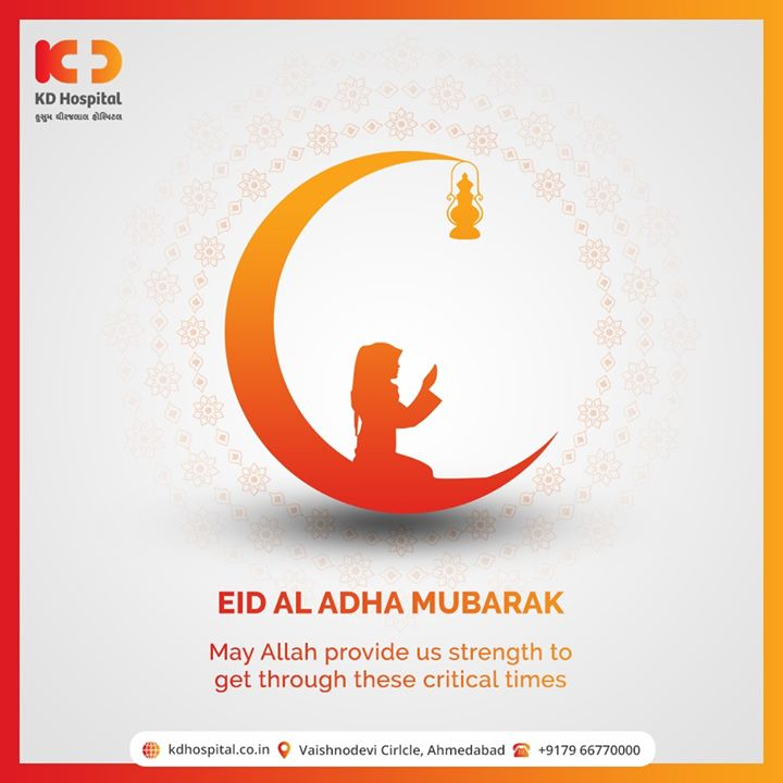 May Allah provide us strength to get through these critical times.   #EidMubarak #EidAlAdha #EidAdhaMubarak #EidAlAdha2020 #BlessedEid #HappyEid #KDHospital #goodhealth #health #wellness #fitness #healthiswealth #healthyliving #patientscare #Ahmedabad #Gujarat #india
