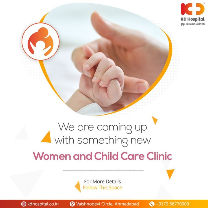 It's a well-known fact that women and children are the strongest pillars of our healthy society and gleaming future. We want to make sure that the future remains sound and secure. KD Hospital is coming up with a new essence soon in the same interest. Keep following us to know more about it.  #KDBlossom #ChildCare #WomenCare #MotherCare #MaternityClinic #Maternity #MotherHood #BabyCare #FirstChild #Care #Compassion #Hospital #goodhealth #health #wellness #fitness #healthiswealth #healthyliving #patientscare #Ahmedabad #Gujarat #India