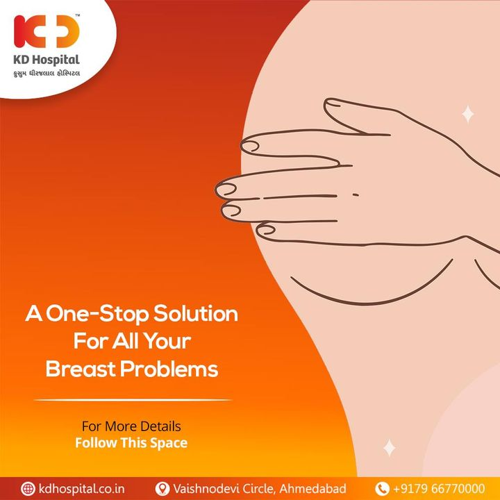 We heard you. A one stop solution is in the motion to all your concerns related to Breast under the roof of KD Hospital.  #KDBlossom #WomenCare #BreastCare #BreastClinic #BreastHealth #WomensHealth #BodyPositivity #SelfCare #Care #Compassion #Hospital #goodhealth #health #wellness #fitness #healthiswealth #healthyliving #patientscare #Ahmedabad #Gujarat #India