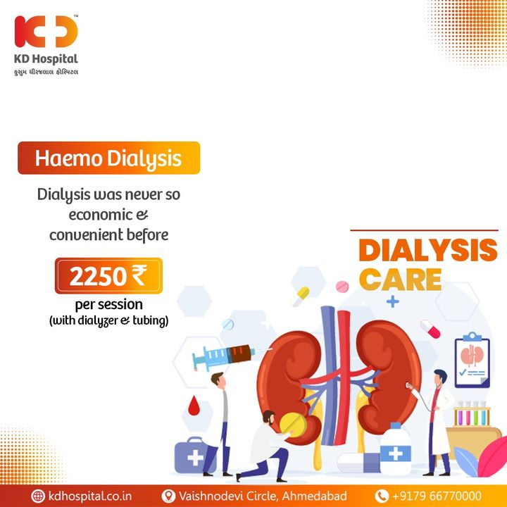 Avail haemodialysis at the infection-free and secure environment where the finest asepsis practices are followed. Call +91 79 6677 0000 to book an appointment with us.   #KDHospital #goodhealth #healthiswealth #healthyliving #patientscare #dialysis #kidneydisease #kidneytransplant #kidney #kidneyfailure #kidneyhealth #haemodialysis #knees #StayAware #StaySafe #Doctors #DoctorsOfInstagram #Diagnosis #Therapeutics #goodhealth #social #socialmediamarketing #digitalmarketing #pandemic #Ahmedabad #Gujarat #India