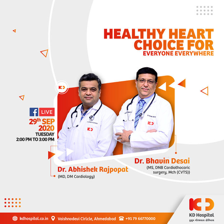 Let's amp up our spirit to spotlight #HeartHealth as the World Heart Day is approaching. Our Cardiac Sciences Experts will be sharing their knowledge on