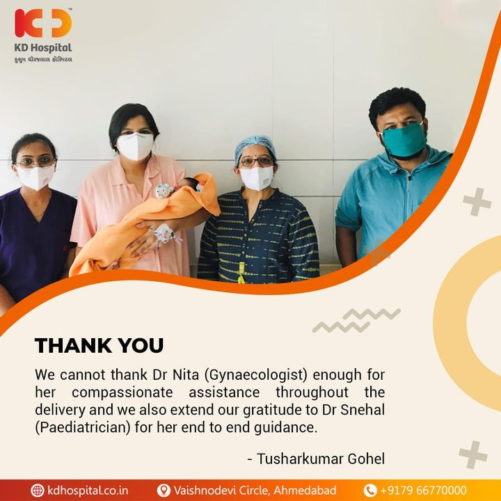 Let's have a look at what our patient's relative Tusharkumar Gohel has to say about their experience at KD Hospital: