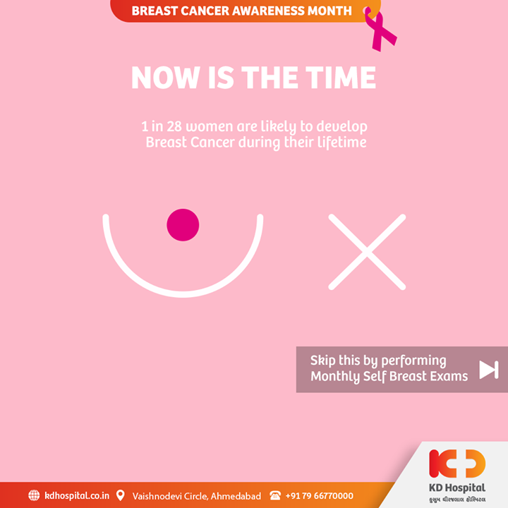 October, marked as a Breast Cancer Awareness Month, aids in expanding attention and assist in developing mindfulness towards breast cancer. Prompt screening can help one with early detection, treatment and even prevention of breast cancer.   #KDHospital #BreastCancerAwareness #BreastCancerAwarenessMonth #BreastCancer #BreastScreening #BreastCare #BreastClinic #DoctorsOfInstagram #WomensHealth #BodyPositivity #SelfCare #healthiswealth #healthyliving #patientscare #Ahmedabad #Gujarat #India