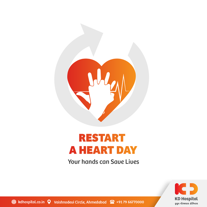 October 16th is dedicated to educating one about Cardio-Pulmonary Resuscitation (CPR) so that everyone can take the opportunity to save the life of one in cardiac arrest. Let's increase the survival rates of these patients by recognizing the symptoms of cardiac arrest and giving them CPR.  #KDHospital #RestartAHeartDay #RestartAHeart #CPR #CPRtraining #CPRsaveslives #cardiopulmonaryresuscitation #Compassion #Doctors #DoctorsOfInstagram #Diagnosis #Therapeutics #goodhealth #soical #socialmediamarketing #digitalmarketing #wellness #wellnessthatworks #Ahmedabad #Gujarat #India