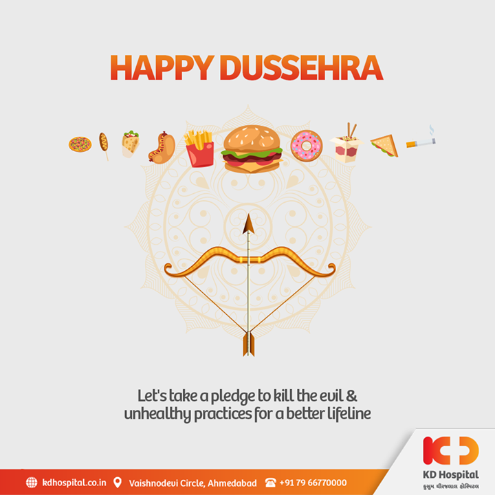 This Dusshera, may all the devils of darkness, weaknesses and fragility be smothered by the light of delight, inspiration, security and health. KD Hospital wishes you all a safe and joyful Dusshera.  #KDHospital #Dusshera #Dusshera2020 #Navratri #Navratri2020 #DoctorsOfInstagram #Diagnosis #Therapeutics #goodhealth #pandemic #socialmedia #socialmediamarketing #digitalmarketing #wellness #wellnessthatworks #Ahmedabad #Gujarat #India