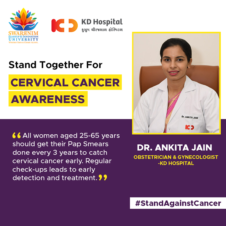 To spread more awareness about cancer, KD Hospital doctors have share insights about the causes, statistics and preventive measures.  #BreastCancerAwarenessMonth #SwarrnimUniversity #BreastCancerSupport #WomensHealth Dr Ankita Jain - Gynecological & Endoscopic Surgeon