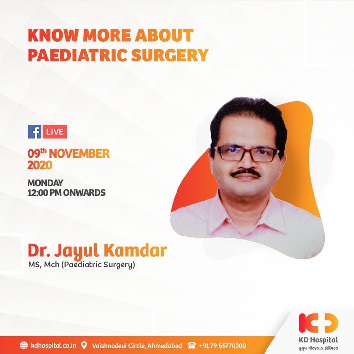 Paediatric surgery is a subspeciality of surgery involving all type of surgical treatments of diseases that affect infants, children, adolescents and young adults. Dr. Jayul Kamdar overviews