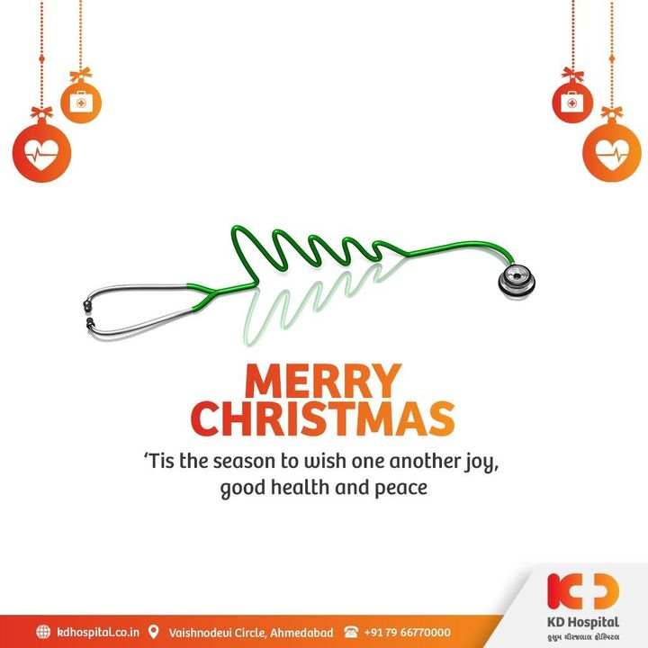 May this season brings you healthier and happier festive vibes. KD Hospital wishes you Merry Christmas.  #KDHospital #Christmas #MerryChristmas  #Christmas2020  #Festival #Cheers #Joy #Happiness #MultiSpecialtyHospital #DoctorsOfInstagram #Diagnosis #Therapeutics #goodhealth #socialmedia #socialmediamarketing #pandemic #wellness #wellnessthatworks #Ahmedabad #Gujarat #India