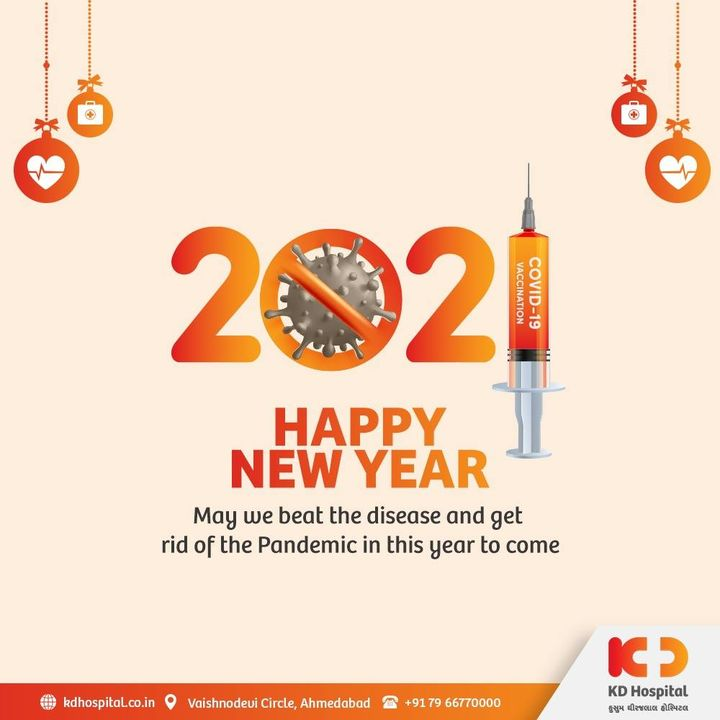 Our hearts go out to all the healthcare workers who stood tall while fighting the ongoing battle of the pandemic. KD Hospital warmly wishes everyone a Very Happy and Healthy New Year.  #KDHospital #NewYear #Goodbye2020 #CovidVaccines #happynewyear #newyear #newyear2021 #Covid19 #happynewyear2021 #vaccine #Therapeutics #goodhealth #pandemic #socialmedia #socialmediamarketing #digitalmarketing #wellness #wellnessthatworks #WellBeing #Ahmedabad #Gujarat #India