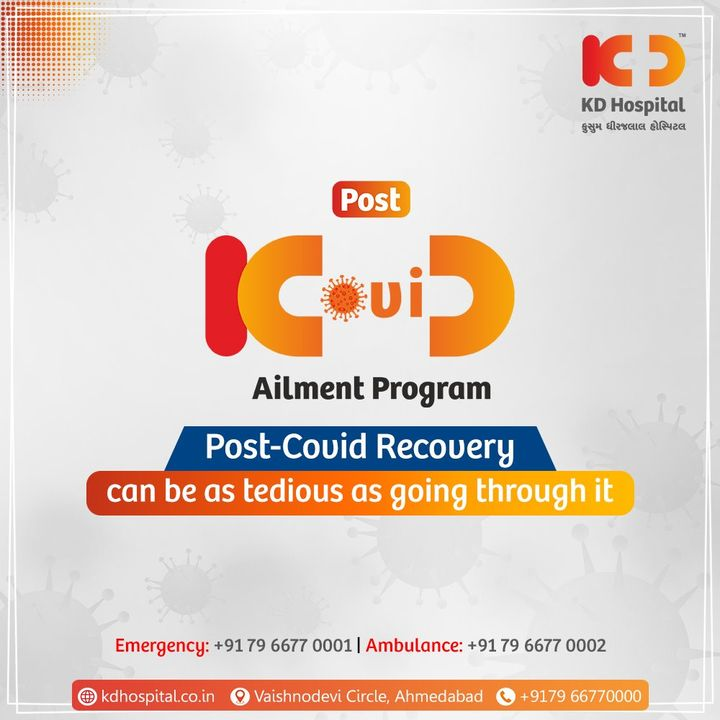 Our Post COVID Ailment Program will take care of you to get you better while recovering from COVID. Contact +91 7977660000 to know more about it.  #KDHospital #helpinghands #postcovid #postcovidailmentprogram  #COVID19 #PostCOVIDRecovery  #postcovid19 #NewNormal #BestHospitalInIndia #NABHHospital #QualityCare #hospitals #doctors #healthcare #covid #CovidVaccine #medical #health #hospital #medicine #coronavirus #staysafe #physicians  #wellnessthatworks #Ahmedabad #Gujarat #India