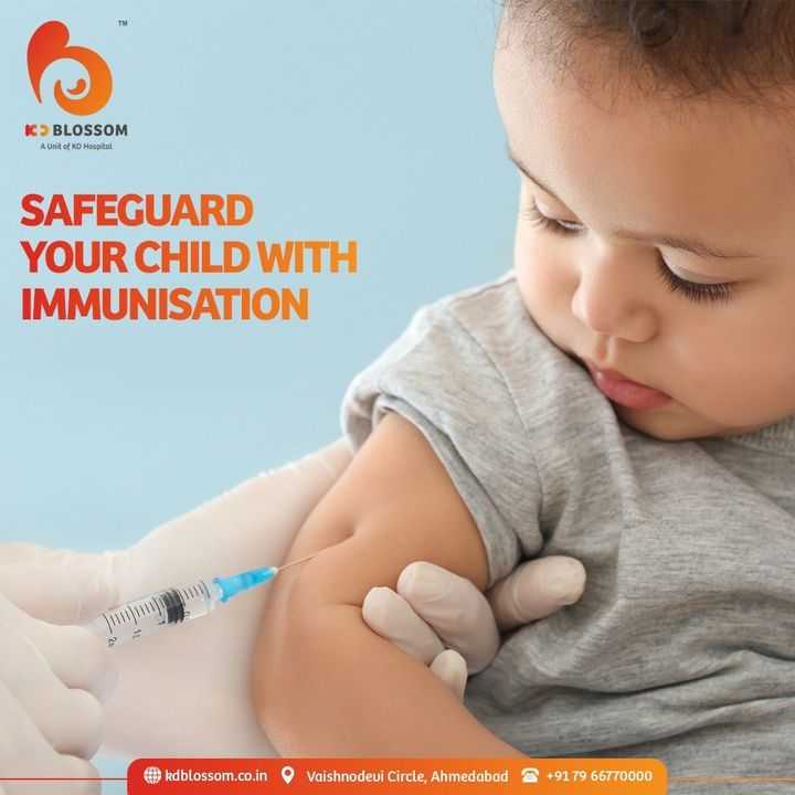 Paediatric vaccination prevents diseases and makes their future healthier. Consult a Paediatrician to know more about immunisation schedule for your child.   #KDHospital #KDBlossom #Vaccination #Vaccine #Paediatrician #PaediatricVaccine #PaediatricVaccination #StayAware #StayAwareStaySafe #Diagnosis #goodhealth #pandemic #socialmedia #socialmediamarketing #digitalmarketing #wellness #wellnessthatworks #Ahmedabad #Gujarat #India