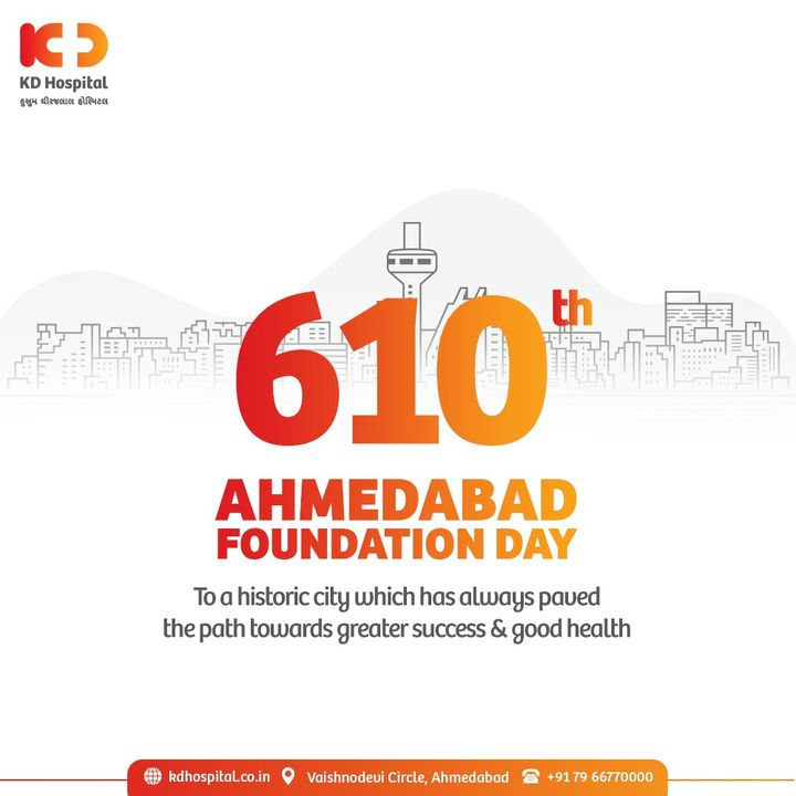 Celebrating the spirit of being a proud Ahmdavadi.  #KDHospital #HappyBirthdayAhmedabad #AhmedabadFoundationDay #AhmedabadSthapanaDivas #FoundationDay  #Diagnosis #Therapeutics #goodhealth #pandemic #socialmedia #socialmediamarketing #digitalmarketing #wellness #wellnessthatworks #Ahmedabad #Gujarat #India.