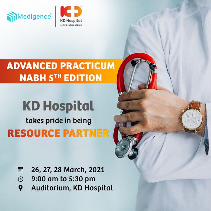 Upgrade your skills of implementation and audit with this certification workshop. Click on the link to register: https://bit.ly/3rMsA9P  For more details, call +919825014161  Medigence Solutions Pvt Ltd   #KDHospital #NABH #NABHHospital #StandardsOfCare #accreditation #QualityCare #Compassion #Doctors #Diagnosis #Therapeutics #goodhealth #soical #socialmediamarketing #digitalmarketing #wellness #wellnessthatworks #Ahmedabad #Gujarat #India
