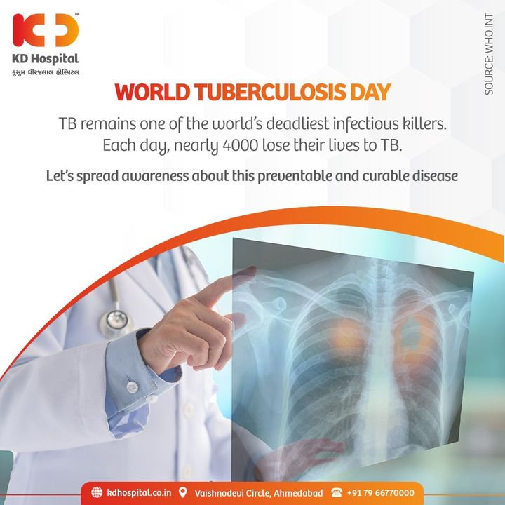 The Clock Is Ticking  While the pandemic putting the goal of ending tuberculosis at risk, it's even more crucial to take measures for preventing and curing tuberculosis completely.   Let's keep the flame of eradicating tuberculosis alive this World Tuberculosis Day.  #KDHospital #WorldTuberculosisDay #WorldTBDay #TB  #TBDay #Tuberculosis #Infection #PublicAwareness  #TheClockIsTicking #EndTB #ItsTimeToEndTB #Diagnosis #Therapeutics #Awareness #wellness #goodhealth #wellnessthatworks #Nusring #NABHHospital #QualityCare #hospitals #doctors #Nurses #healthcare #medical #health #Ahmedabad #Gujarat