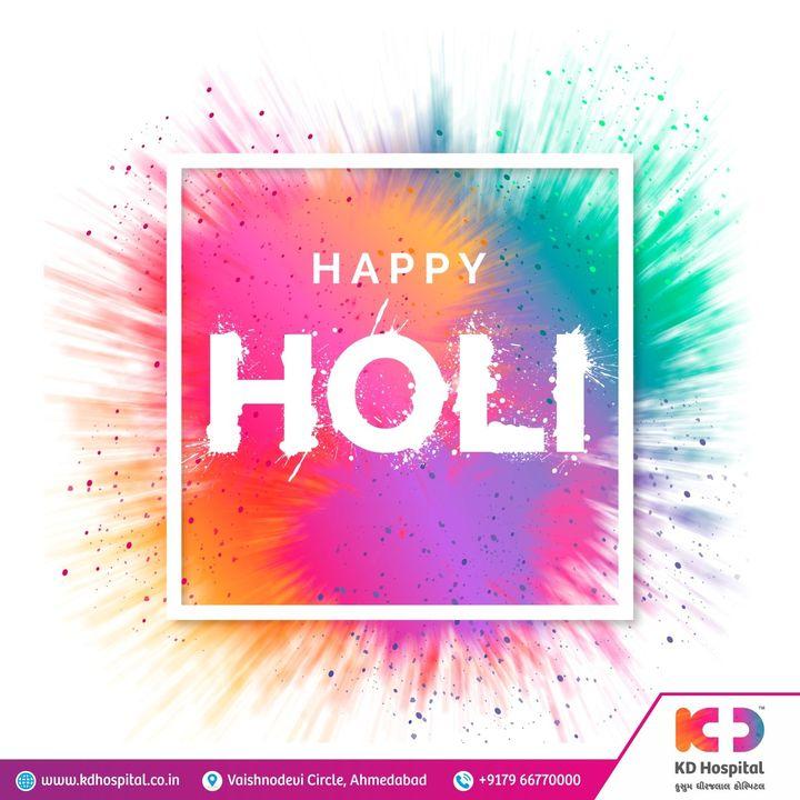 KD Hospital wishes you Happy Holi !   Hope your life is framed with all colors of good health, love & happiness today and always!  #KDHospital #Holi #Happyholi #festivalofcolours #Holi2021 #holifestival #holistic #Celebration #Indianfestival  #Diagnosis #Therapeutics #Awareness #wellness #goodhealth #wellnessthatworks #Nusring #NABHHospital #QualityCare #hospitals #doctors #Nurses #healthcare #medical #health #Ahmedabad #Gujarat #India