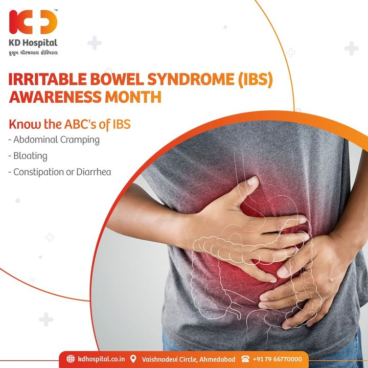 Irritable Bowel Syndrome (IBS) is a chronic gastrointestinal condition that can be treated with dietary adjustment, stress management and a consistent sleep schedule.   If you're suffering from IBS Call now : +917966770000 to book an appointment.  #KDHospital #IBSAwarenessMonth  #IBS #IrritableBowelSyndrome #chronicillness  #guthealth #pelvicfloorhealth #StayAware #StayAwareStaySafe #healthfirst #healthylifestyle #wellness #wellnessthatworks #NABHHospital #QualityCare #hospitals #doctors #Nurses #healthcare #medical #digitalmarketing #Ahmedabad #Gujarat #India