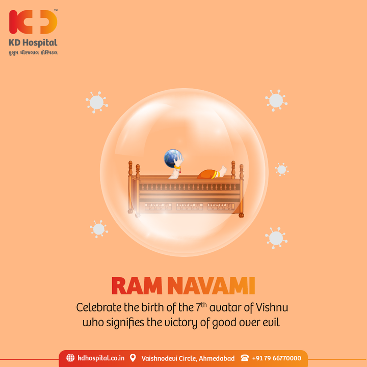This Rama Navmi, let's all pray to Lord Rama for giving us the strength and health to beat this wave of the pandemic and to keep our loved ones safe in this environment.   #KDHospital #RamaNavami #RamNavami #LordRama #Covid19 #CovidVaccine #Immunization #StayAware #StayAwareStaySafe #healthfirst #healthylifestyle #wellness #wellnessthatworks #NABHHospital #QualityCare #hospitals #doctors #Nurses #healthcare #medical #digitalmarketing #Ahmedabad #Gujarat #India