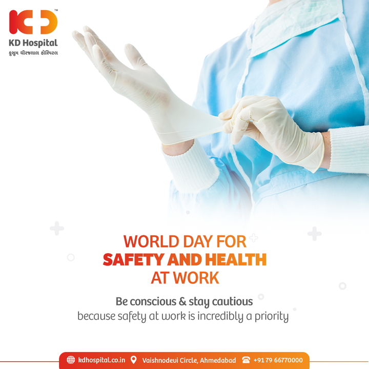 We encourage the safety and health of our frontliners at priority so that we can take care of you at priority.  #KDHospital #EmployeeSafety #SHWDay #SafeDay2021 #healthandsafetyatwork #Compassion #Safety #PatientSafety #SafetyComesFirst #SafetyFirst #SafetyMeasures #Diagnosis #Therapeutics #Awareness #wellness #goodhealth #wellnessthatworks #Nusring #NABHHospital #QualityCare #hospitals #doctors #healthcare #medical #health #physicians #surgery #surgeon #Ahmedabad #Gujarat #India
