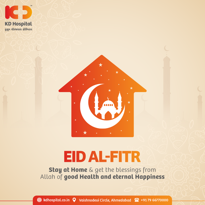 May the almighty grant the prayers of every ones well being as you celebrate Ramadan at home with your loved ones. Eid Mubarak!  #EidMubarak #Ramadan #SafetyComesFirst #SafetyFirst #SafetyMeasures #Diagnosis #Therapeutics #Awareness #wellness #goodhealth #wellnessthatworks #Nursing #NABHHospital #QualityCare #hospitals #doctors #healthcare #medical #health #ahmedabad #kdhospital