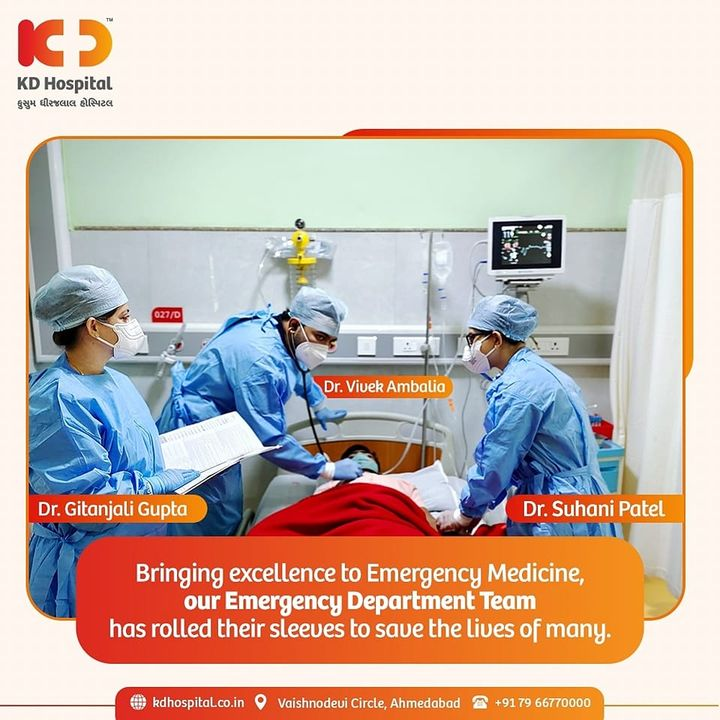 Our doctors from Emergency Medicine are matching up the speed of treadmill as they run for emergency patients and save lives.  Call +917966770001 if you have any health-related emergency that requires urgent medical attention.  #KDHospital #EmergencyMedicine #ER #ED #EmergencyDoctors #Compassion #Safety #PatientSafety #SafetyComesFirst #SafetyFirst #SafetyMeasures #Diagnosis #Therapeutics #Awareness #wellness #goodhealth #wellnessthatworks #Nusring #NABHHospital #QualityCare #hospitals #doctors #healthcare #physicians #surgery #surgeon #Ahmedabad #Gujarat #India