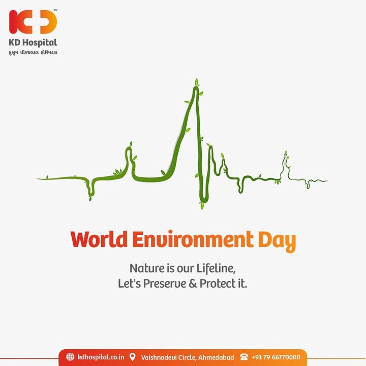 Let us not forget about our planet. Keep our environment healthy & safeguard biodiversity for better future of mankind.  This #WorldEnvironmentDay  KD Hospital raises awareness to #preserve #protect #RestoringEcosystem before it's too late.  #KDHospital #WorldEnvironmentDay2021 #nature #earth #Lifeline #environment #StayAware #StayAwareStaySafe #Diagnosis #goodhealth #pandemic #healthfirst #healthylifestyle #wellness #wellnessthatworks #NABHHospital #QualityCare #hospitals #doctors #Nurses #healthcare #medical #digitalmarketing #Ahmedabad #Gujarat #India