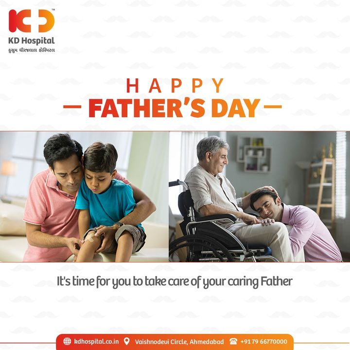 He always makes sure that his kids have everything that they need and want. He only taught us how to value health and gave his all to ensure our wellbeing.  Wishing all dads a very #HappyFathersDay.  #KDHospital #HappyFathersDay2021 #FathersDay #Fathers #FatherLove #Fatherhood  #Compassion #Safety #PatientSafety #SafetyComesFirst #SafetyFirst #SafetyMeasures #Diagnosis #Therapeutics #Awareness #wellness #goodhealth #wellnessthatworks #Nusring #NABHHospital #QualityCare #hospitals #healthcare #physicians #surgeon #Ahmedabad #Gujarat #India
