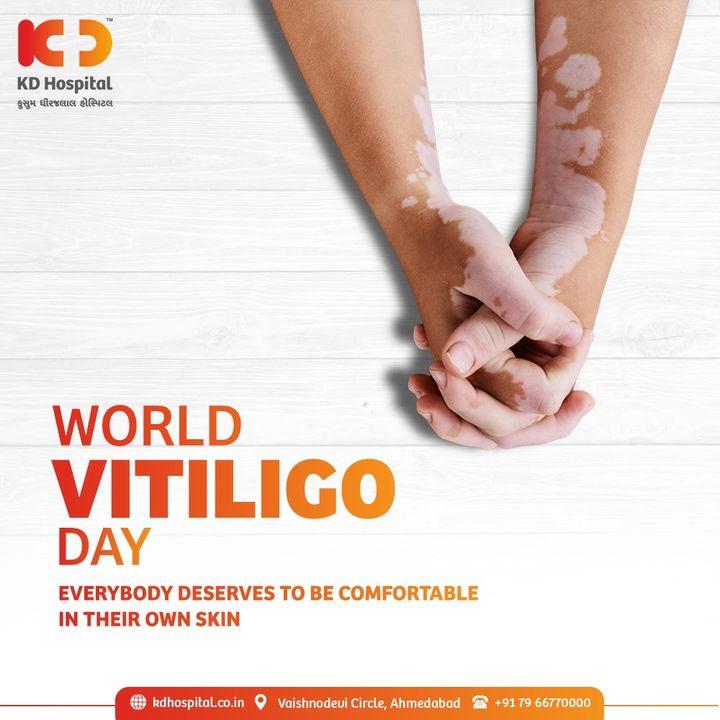 World Vitiligo Day is an initiative that aims to build global awareness about Vitiligo.  #KDHospital #Vitiligo #WorldVitiligoDay #SkinDisease #Diagnosis #Therapeutics #Awareness #wellness #goodhealth #wellnessthatworks #Nusring #NABHHospital #QualityCare #hospitals #healthcare #physicians #explore #surgeon #Ahmedabad #Gujarat #India