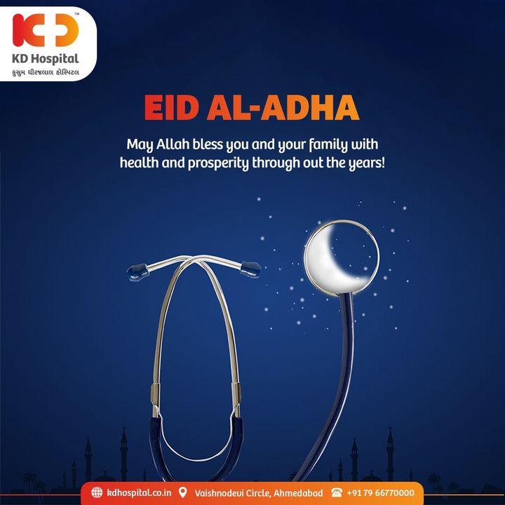 KD Hospital wishes you peace, prosperity and good health on this auspicious occasion of  #EidAlAdha.  #KDHospital #EidAlAdha2021 #EidMubarakh #NABHHospital #QualityCare #hospitals #healthcare #physicians #explore #surgeon #Ahmedabad #Gujarat #India