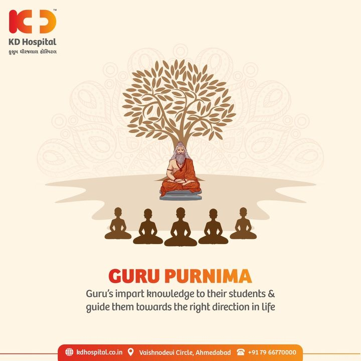 Today is the day we pay tribute to our Guru for passing their wisdom and for moving our life towards the peaks of prosperity and abundance of knowledge.  #GuruPurnima2021 #GuruPurnima #HappyGuruPurnima #GuruPoornima #Guru #Guide #KDHospital #Diagnosis #Therapeutics #Awareness #wellness #goodhealth #wellnessthatworks #Nursing #NABHHospital #QualityCare #hospital #explore #healthcare #physicians #surgeon #Ahmedabad #Gujarat