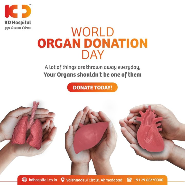 Be an Instant Life Saver by spending 2 minutes and pledge to Donate Organs on this World Organ Donation Day. Click here for registration: https://sotto.nic.in/DonorCardRegistration.aspx  #KDHospital #OrganDonation #DonateOrgans #Organs #OrganDonationDay #DonateLife #BeAHero #Doctors #Diagnosis #Therapeutics #goodhealth #patienttestimonial #patient #testimonial #testimony #soical #socialmediamarketing #digitalmarketing #wellness #wellnessthatworks #Ahmedabad #Gujarat #India