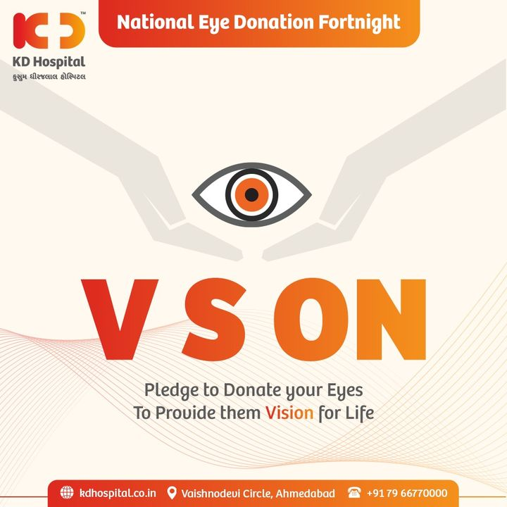 National Eye Donation Fortnight is a campaign which aims to create public awareness about the importance of eye donation and motivates people to pledge their eyes for donation after death.  https://bit.ly/2Wu1bhY  visit this link to test your knowledge about eye donation. The link is open till Saturday (28/08/21) 8:00Am.  #KDHospital #EyeDonation #Eye #NationalEyeDOnationFortnight #DonateEyes #GiftOfVision #Vision #Doctors #Diagnosis #Therapeutics #goodhealth #patient #soical #socialmediamarketing #digitalmarketing #wellness #wellnessthatworks #Ahmedabad #Gujarat #India