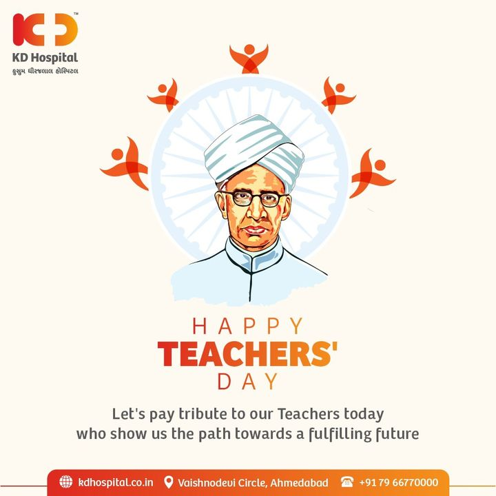 Today is the day to celebrate the ones who inspired us to reach greater heights & made our future bright.  Our success would not have been possible without our teachers.   Happy Teacher's Day!  #KDHospital #TeachersDay #HappyTeachersDay #Teacher #Mentor #Guide #TeachersDay2021 #Doctors #Diagnosis #Therapeutics #goodhealth #soical #socialmediamarketing #digitalmarketing #wellness #wellnessthatworks #Ahmedabad #Gujarat