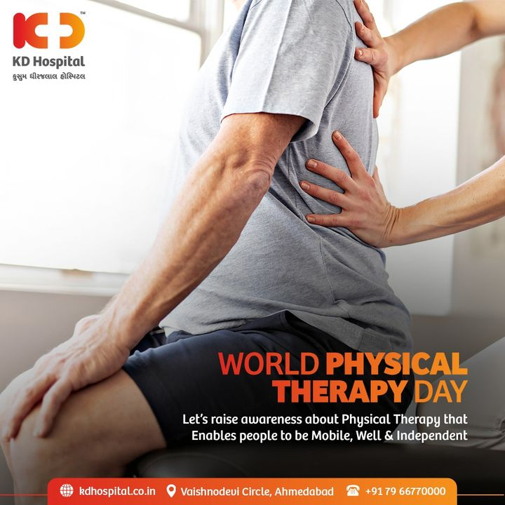 Physiotherapists play a huge role in keeping people fit and well, especially during this pandemic situation. Their efforts and contribution to the medical field, have given back mobility & the joy of restoring movement to many.  #KDHospital #WorldPhysiotherapyDay #PhysicalTherapy #Physiotherapy #Physiotherapist #Rehabillitation #RestoreMovement #Mobility #Fitness #Doctors #Diagnosis #Therapeutics #goodhealth #soical #socialmediamarketing #digitalmarketing #wellness #wellnessthatworks #Ahmedabad #Gujarat