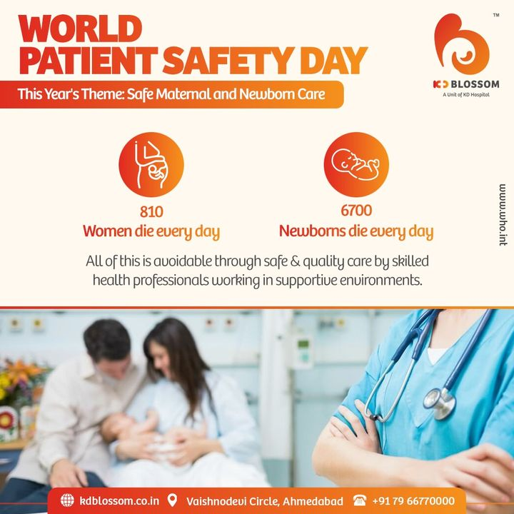#WorldPatientSafetyDay  Considering the significant burden of risks and harm women and newborns are exposed to due to unsafe care, the campaign is even more important this year. Let's spread this awareness and stand for
