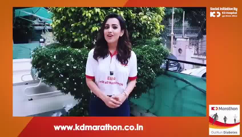 The gorgeous actress Esha Kansara is all set for the season's enthralling Marathon. Are you ready?   #KDHospital #GoodHealth #Ahmedabad #Gujarat #India