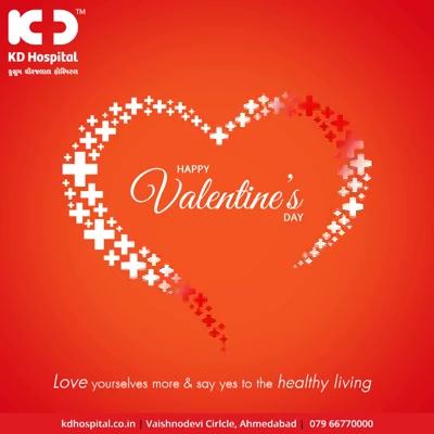 Love yourself more & say yes to healthy living.  #Valentines2019 #ValentinesDay #Valentines #DayOfLove #ValentinesDay2019 #KDHospital #GoodHealth #Ahmedabad #Gujarat #India