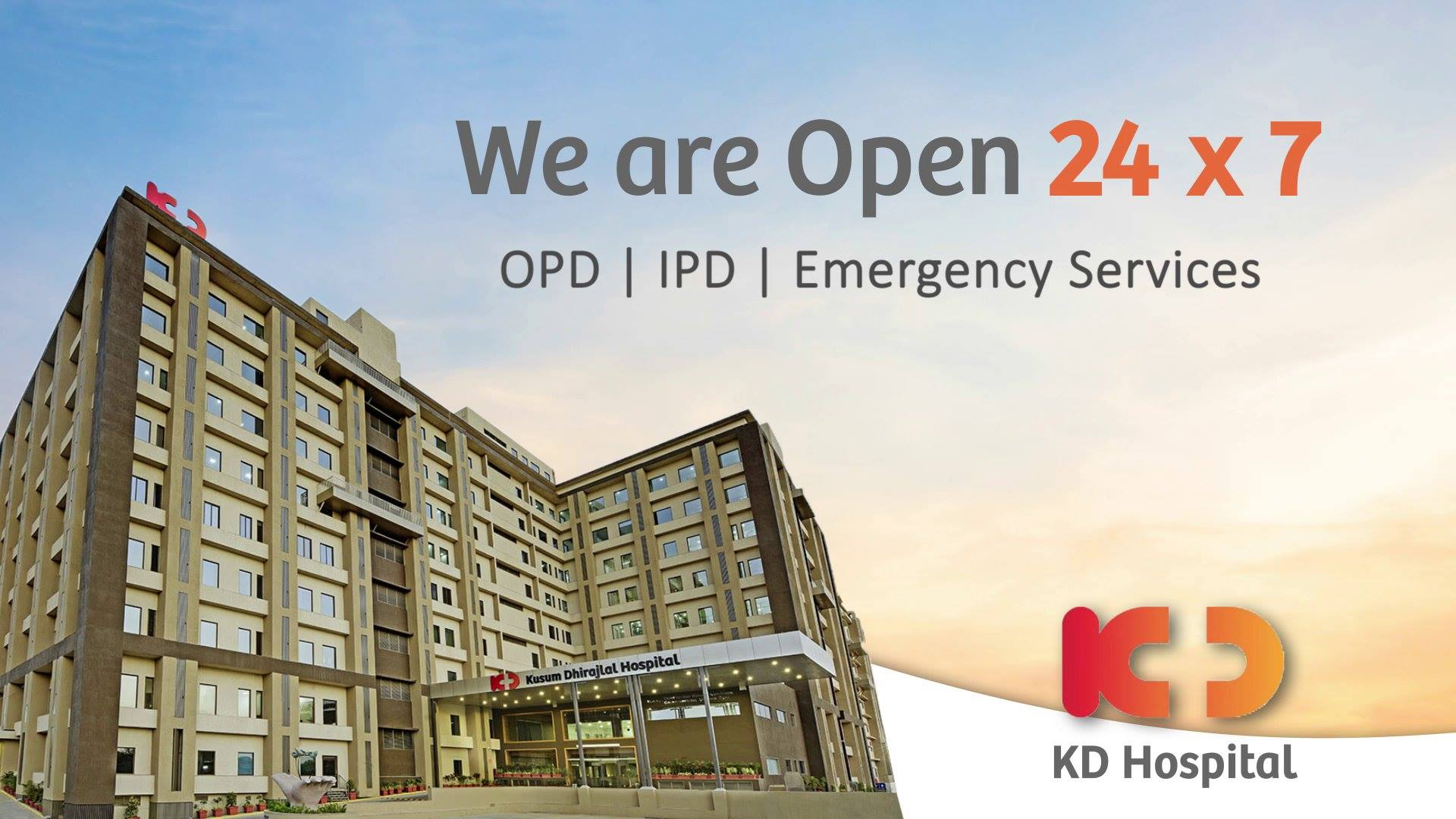 During these testing times, KD Hospital assures you that we are there for you and always a step ahead to take precautions while providing you safe healthcare services.  Our OPD, IPD & Emergency Services are fully operational with an option of Tele-Medicine available as well. We remain committed towards providing best patient care at an affordable rate.  Call us on 07966770000 to book an appointment and consult our expert Doctors now!  #CoronaVirus #CoronaAlert #StayAware #StaySafe #pandemic #caronavirusoutbreak #Quarantined #QuarantineAndChill #coronapocalypse #KDHospital #goodhealth #health #wellness #fitness #healthiswealth #healthyliving #patientscare #Ahmedabad #Gujarat #India