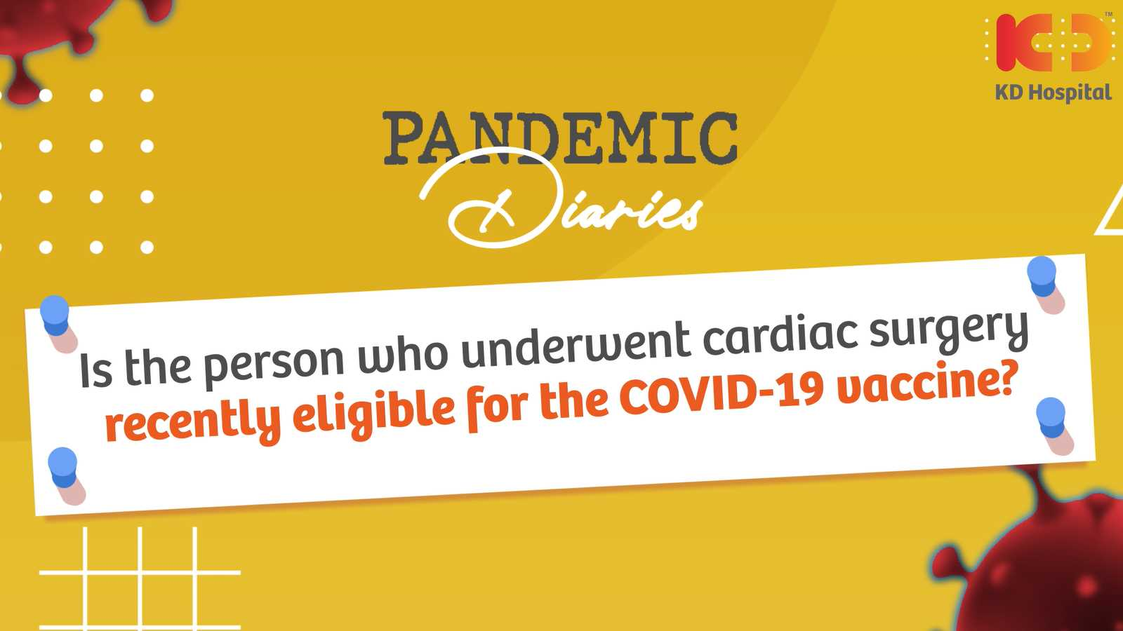 Keep your heart and health safe during the pandemic. Hear our consultant cardiologist Dr. Abhishek talk about cardiac diseases and COVID-19.  Watch the full episode of