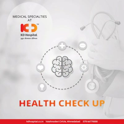 All your health worries are taken care under one roof!  #KDHospital #GoodHealth #Ahmedabad #Gujarat #India