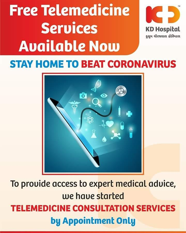 Free Telemedicine services available now!  To provide access to expert medical advice, we have started telemedicine consultation services by appointment only  To avail our services, call-o79 66770000  #FreeTelemedicineServices #StayAtHome #Distancing #PhysicalDistancing #SocialDistancing #COVID19 #COVID #Coronavirus #kdhospital