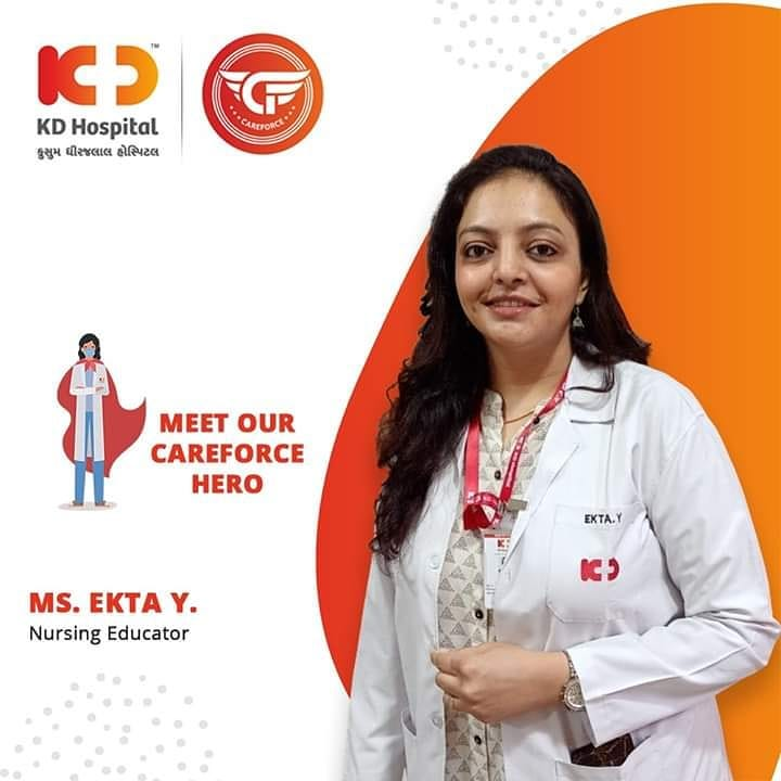 Nurses are the backbone of a hospital. They do their job with all kindness and affection towards patient and this is only possible when they have proper guidance from their leader. We appreciate Ms. Ekta's efforts to train our nurses with all her dedication.  #KDHospital #goodhealth #health #wellness #fitness #healthy #healthiswealth #wealth #healthyliving #joy #patientscare #Ahmedabad #Gujarat #India