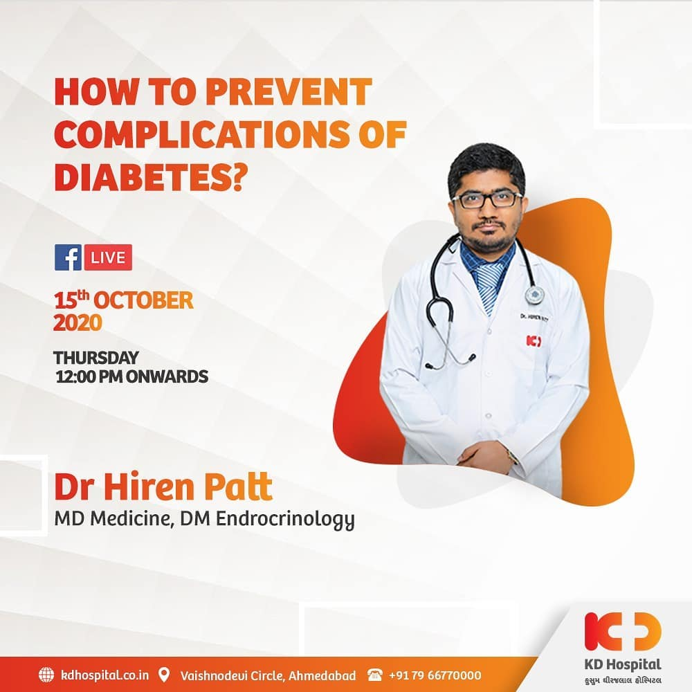 Long haul complications of diabetes grow slowly. Longer the chronicity of diabetes, lesser controlled sugar in your blood, and higher the risk of developing complications. Dr Hiren Patt talks about