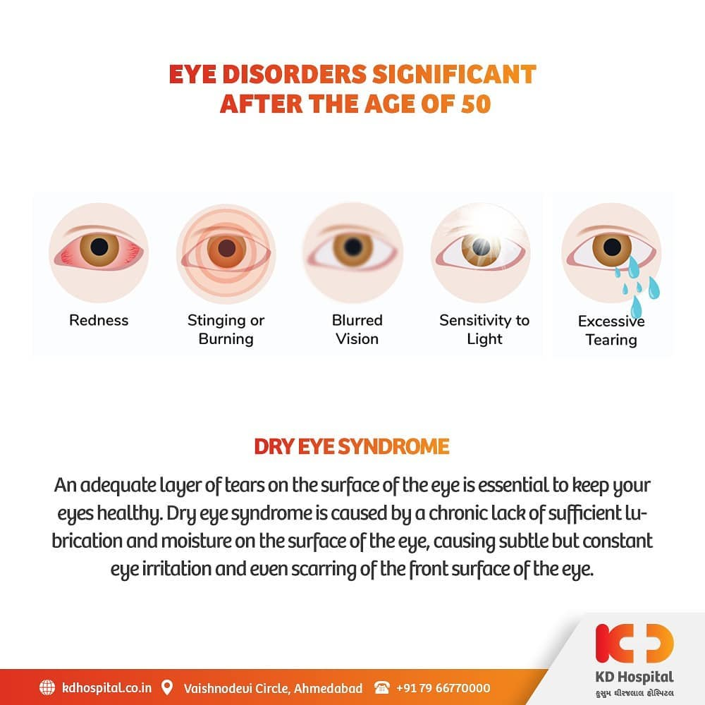 Dry eye syndrome (DES), otherwise called keratoconjunctivitis sicca (KCS), causes dry eyes leading to irritation, blurry vision, and redness of eyes.  KD Hospital is having a free eye consultation from 17/11/2020 to 30/11/2020 for the patients above the age of 50. Call +918980280802 or +916359603634 between 9:00 AM to 5:00 PM to book an appointment. Additionally, we have Cashless Facilities available at the hospital.  #KDHospital #eyecheckup #DryEyeSyndrome #blindness #blind #eyesurgery #blindnessawareness #DoctorsOfInstagram #Diagnosis #Therapeutics #goodhealth #pandemic #socialmedia #socialmediamarketing #digitalmarketing #wellness #wellnessthatworks #Ahmedabad #Gujarat #India