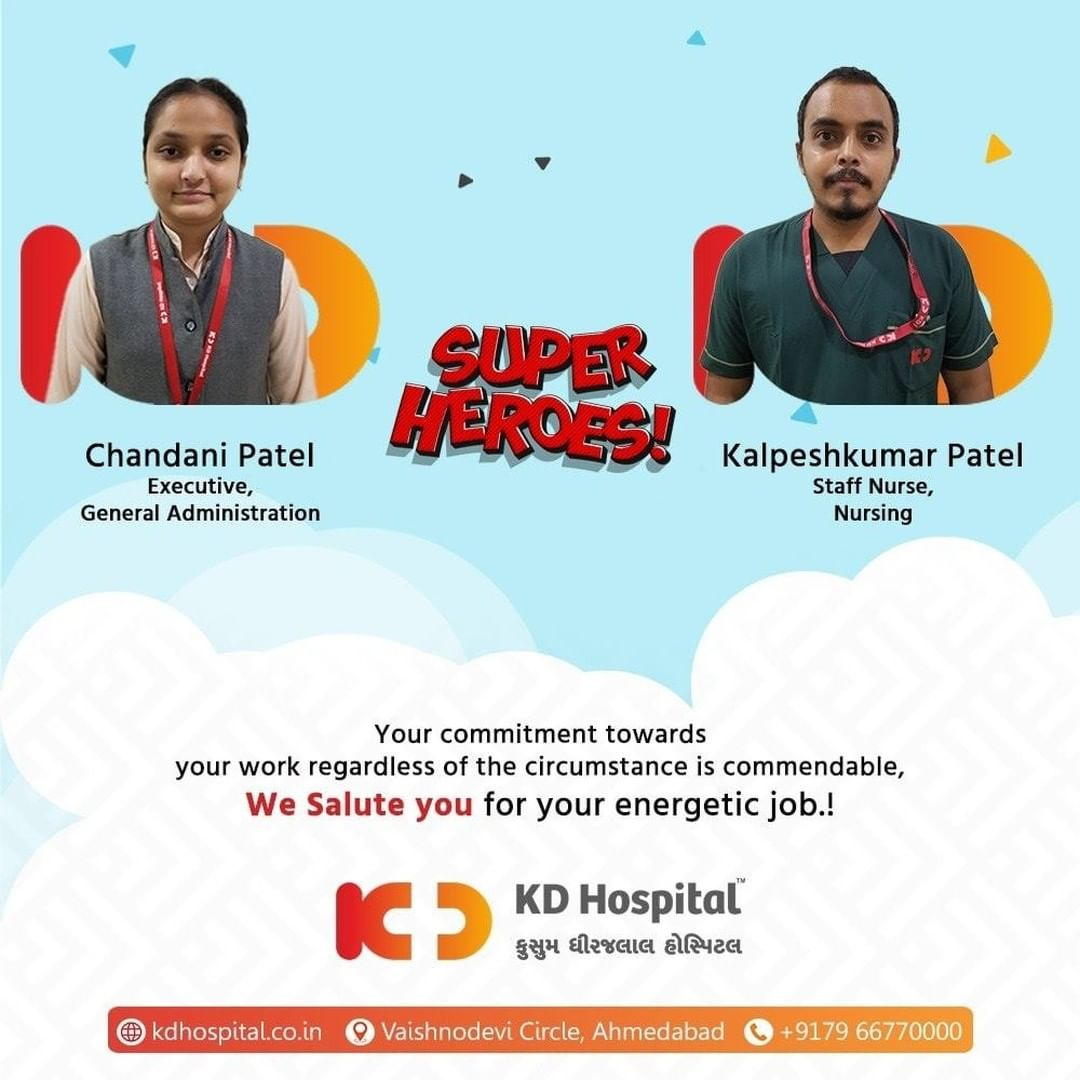 We admire your hard work which is assuring a compassionate Patient Care Environment. KD Hospital deems your worth among the organization.   #KDHospital #EmployeeWellness #EmployeeAppreciation #DoctorsOfInstagram #Diagnosis #Therapeutics #goodhealth #pandemic #socialmedia #socialmediamarketing #digitalmarketing #wellness #wellnessthatworks #Ahmedabad #Gujarat #India
