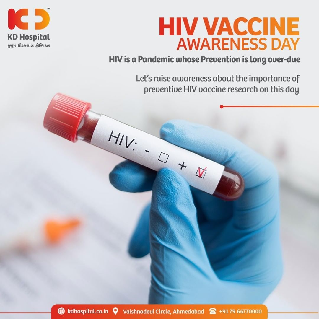 This day aims to raise mindfulness for encouraging the research to develop an efficient prevention vaccine of the incurable disease of HIV.   #KDHospital #HIV #AIDS #AIDSVaccine #HIVVaccineAwarenessDay #FoodForThought #Compassion #Safety #PatientSafety #SafetyComesFirst #SafetyFirst #SafetyMeasures #Diagnosis #Therapeutics #Awareness #wellness #goodhealth #wellnessthatworks #Nusring #NABHHospital #QualityCare #hospitals #doctors #healthcare #medical #health #physicians  #Ahmedabad #Gujarat #India